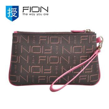 菲安妮FIONFPLLPBRNPIK15SH01手拿包啡-粉色