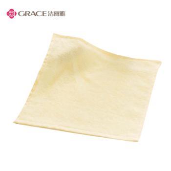 洁丽雅6198竹纤维柔软吸水小方巾1条装