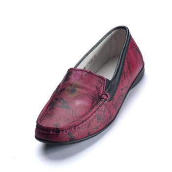 真牛皮休闲鞋 平跟软底舒适时尚孕妇妈妈驾车鞋