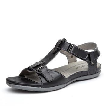 中老年凉鞋女夏季妈妈凉鞋平跟老人皮女鞋凉鞋女 SNT0072