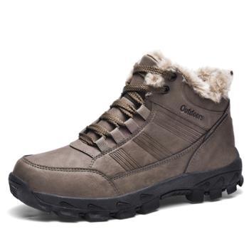 冬季潮流加绒保暖雪地鞋男士休闲棉鞋高帮鞋WKG10