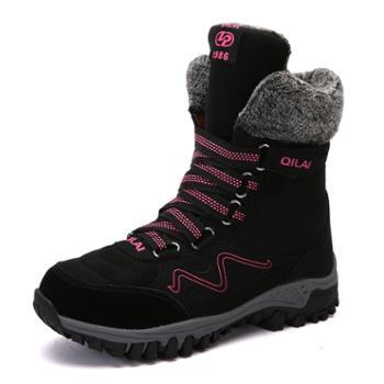 冬季户外轻质舒适雪地靴女加绒加厚妈妈棉鞋高帮户外鞋靴 QL1812