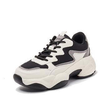 韩版时尚运动休闲鞋厚底增高女鞋加绒保暖女学生鞋 WKM05