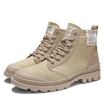 欧美潮流牛仔中高帮帆布鞋男士英伦街头马丁工装靴复古休闲潮流鞋 ah8610