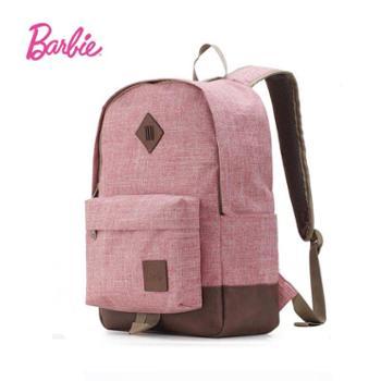 芭比/barbie郊外系列双肩包女包撞色拼接休闲风BBBP156