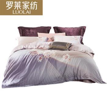 罗莱 家纺纯棉缎纹四件套晚安·霓裳 双人床