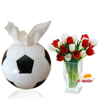 纳川 创意足球纸巾筒抽纸巾盒卫生卷纸筒塑料抽纸盒防水纸巾抽套筒塑料