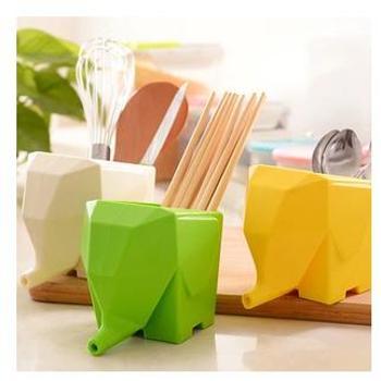 小象 沥水器 大象厨卫收纳盒 创意筷子笼 餐具收纳杯 牙刷架 笔筒