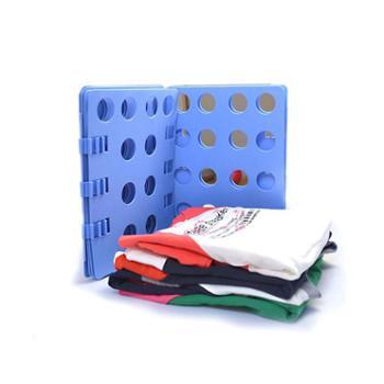 千奇新一代懒人叠衣板 方便叠衣架折衣板 可调节折叠衣服器摺衣板 颜色随机