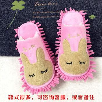 秋冬款加厚 懒人拖鞋可拆洗 擦地拖鞋 木地板拖地拖鞋