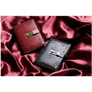 CAGIE/卡杰 复古密码本带锁日记本商务创意手账本记事本文具笔记本子手帐本