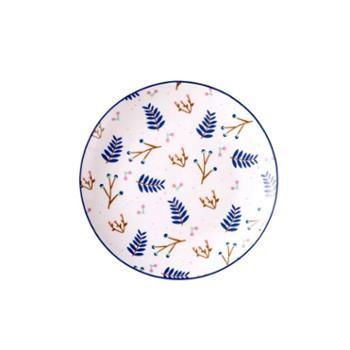 陶瓷盘子创意简约西餐盘 北欧碟子菜盘家用可爱卡通早餐盘牛排盘1个