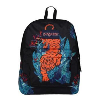 JANSPORT 杰斯伯 男女款双肩背包校园休闲包书包 TRS74F4热带丛林虎