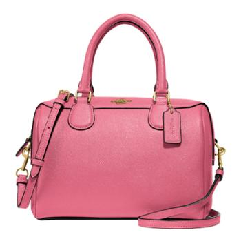 COACH蔻驰 女士小号波士顿包 草莓粉色F32202