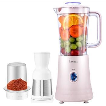 美的(Midea)榨汁机 二合一多功能家用搅拌机婴儿辅食果汁机(配过滤网)WBL2521H 粉红色