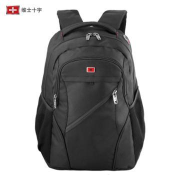 维士十字瑞士军刀双肩包男士大容量休闲户外旅行背包15.6寸电脑包VC3008-LE6101