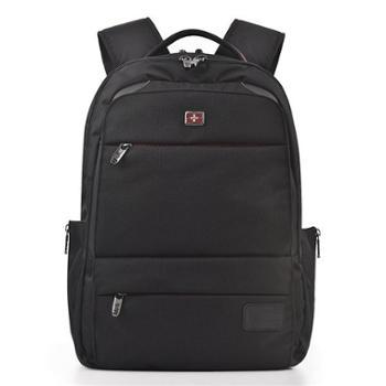维士十字商务双肩包男士书包中学生15.6寸电脑包休闲背包旅行包VC3008-LE6701