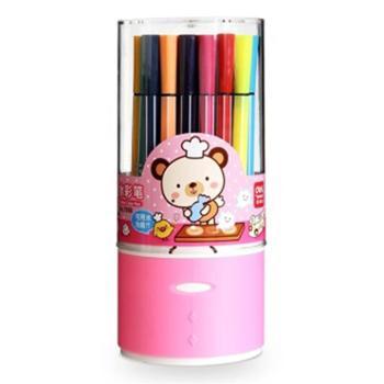 得力(deli)7068绚丽多彩可洗水彩笔/绘画笔36色/筒
