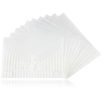 得力(Deli)5502A4透明按扣公文袋20个装