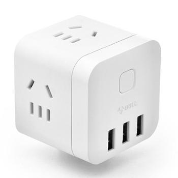 公牛BULLU303UW无线版多功能带USB口插座