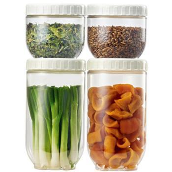 乐扣乐扣(LOCK&LOCK)储物罐塑料收纳罐四件套INL301S001