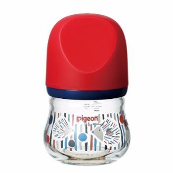 贝亲自然实感宽口径玻璃臻宝奶瓶160ml/80ml(刺猬)