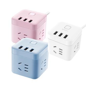 公牛(BULL)智能USB魔方插座带线全长1.5米