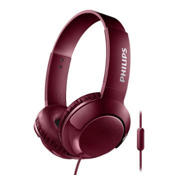 飞利浦有线头戴式带麦耳机SHL3075