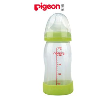 贝亲AA80自然实感宽口径PP塑料奶瓶160ML
