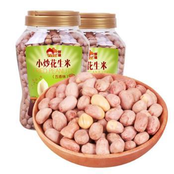 野娃五香花生米安庆特色小炒花生米休闲零食下酒菜750g*2罐
