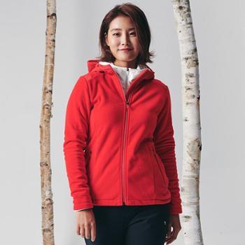 BLACKYAK布来亚克女款连帽抓绒衣户外登山运动保暖衣外套FZW634