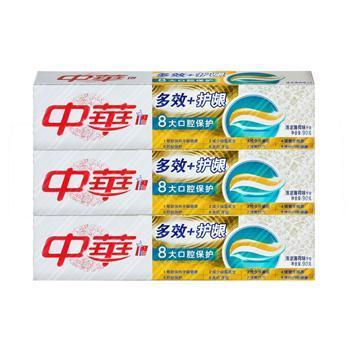 中华 多效护龈 清凉薄荷味牙膏90g 3支装组合