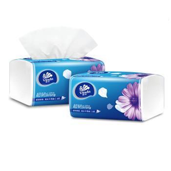 维达 超韧系列纸巾三层面巾抽纸130抽M码3包/提 共3提 V2182