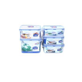 乐扣乐扣 家用耐热抗冻保鲜盒5件套装 HPL855S001