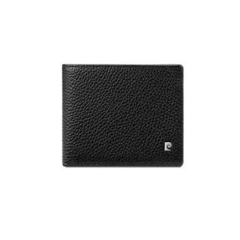 皮尔卡丹牛头层皮革钱夹黑色JR9P579052-53A