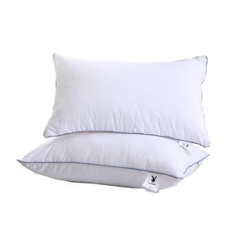 花花公子/PLAYBOY 磨毛布舒心对枕 700克 白色 HSXZ02