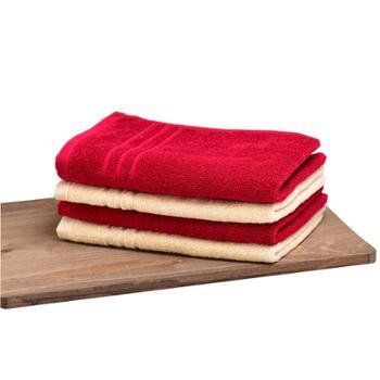 金号 简爱毛巾系列-5 两条毛巾礼盒装(天窗版) 78g/条 100%纯棉 HY1123