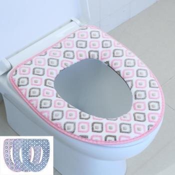 动动手动动 手美丽珊瑚绒马桶坐垫优惠2件装