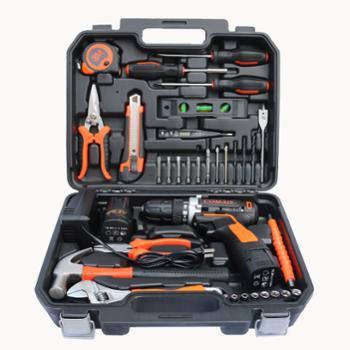 车之秀品工具箱带电钻套组木工维修电工35件套16.8V电钻款
