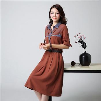 衣锦牧园新款女装品牌欧美范高端连衣裙女士连衣裙爆款