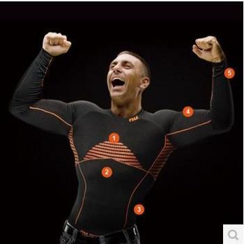 nu 3D无缝肌热衣 骑行服运动服 间歇紧缩 胸前背部恒温机能设计