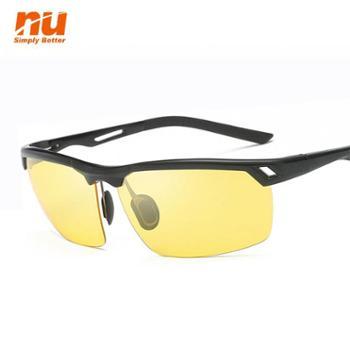 NU铝镁偏光夜视眼镜防蓝光偏光减弱光夜间驾驶镜