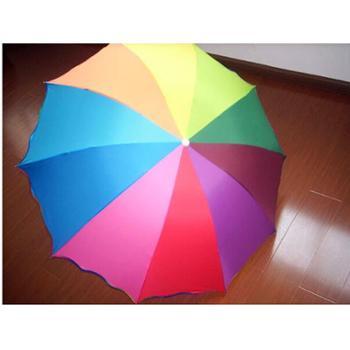 547雨后彩虹10K荷叶包边伞