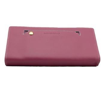 尼诺里拉NINORIVA桃红色牛皮革女士长款钱夹NR60201-5