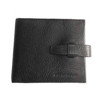 尼诺里拉NINORIVA黑色男士牛皮革横式短款钱夹NR60103-3