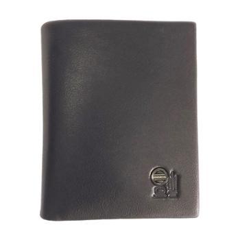 尼诺里拉NINORIVA黑色男士牛皮革竖款多功能短款钱夹NR60329-2