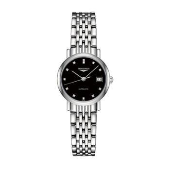 Longines浪琴博雅系列机械手表黑盘钢带女表(25.5mm)L4.309.4.57.6