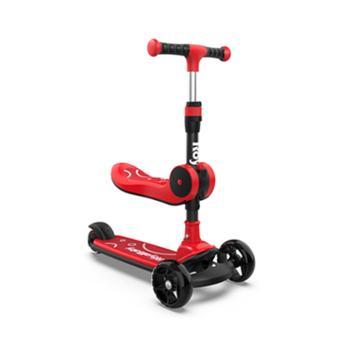 优贝滑板车儿童溜溜车滑滑车发光轮折叠
