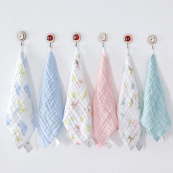 好孩子婴儿口水巾婴儿精梳棉泡泡纱方巾