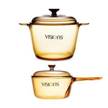 【组合】康宁VISIONS3.5L+1L晶彩透明锅2件套(VS-35+VSP-1R)